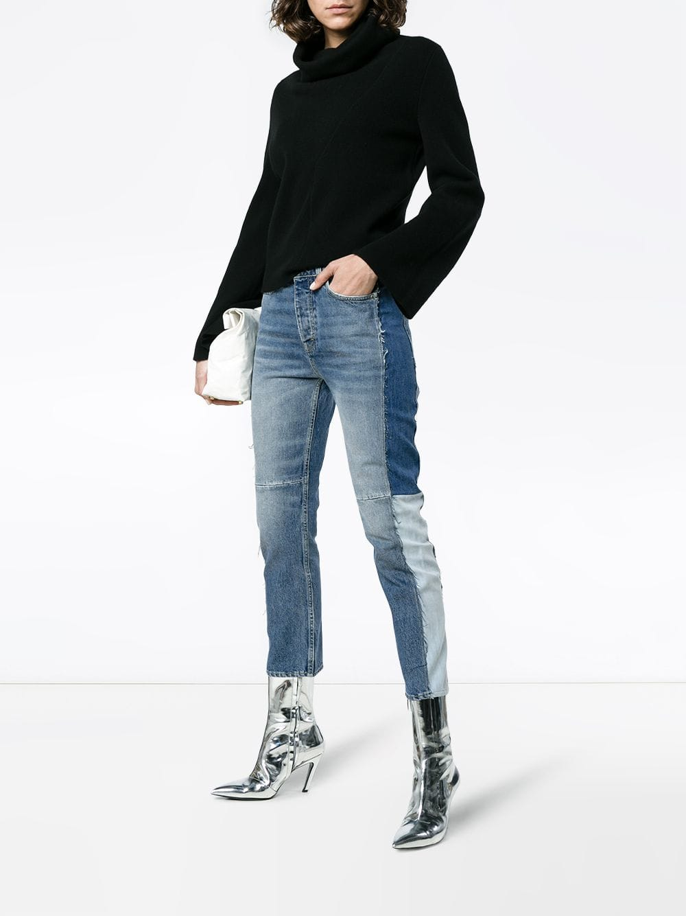 blue Mid rise patchwork jeans  GOLDEN GOOSE |  | G32WP006.A2A2