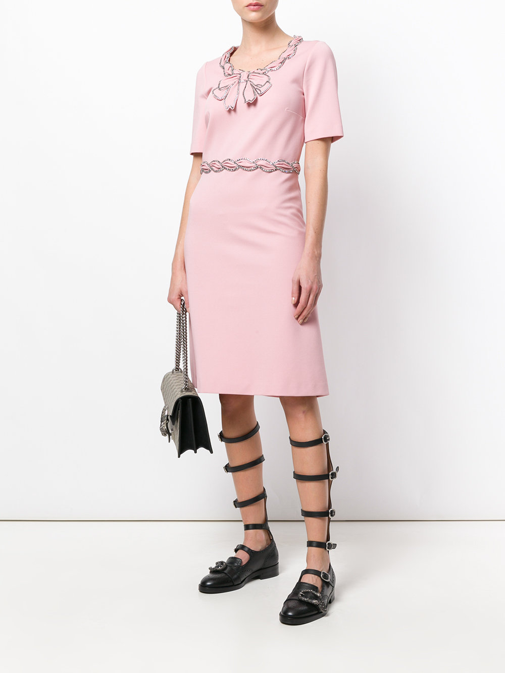 light pink Svarovski crystal emebellishment dress GUCCI |  | 501513-X9M655184