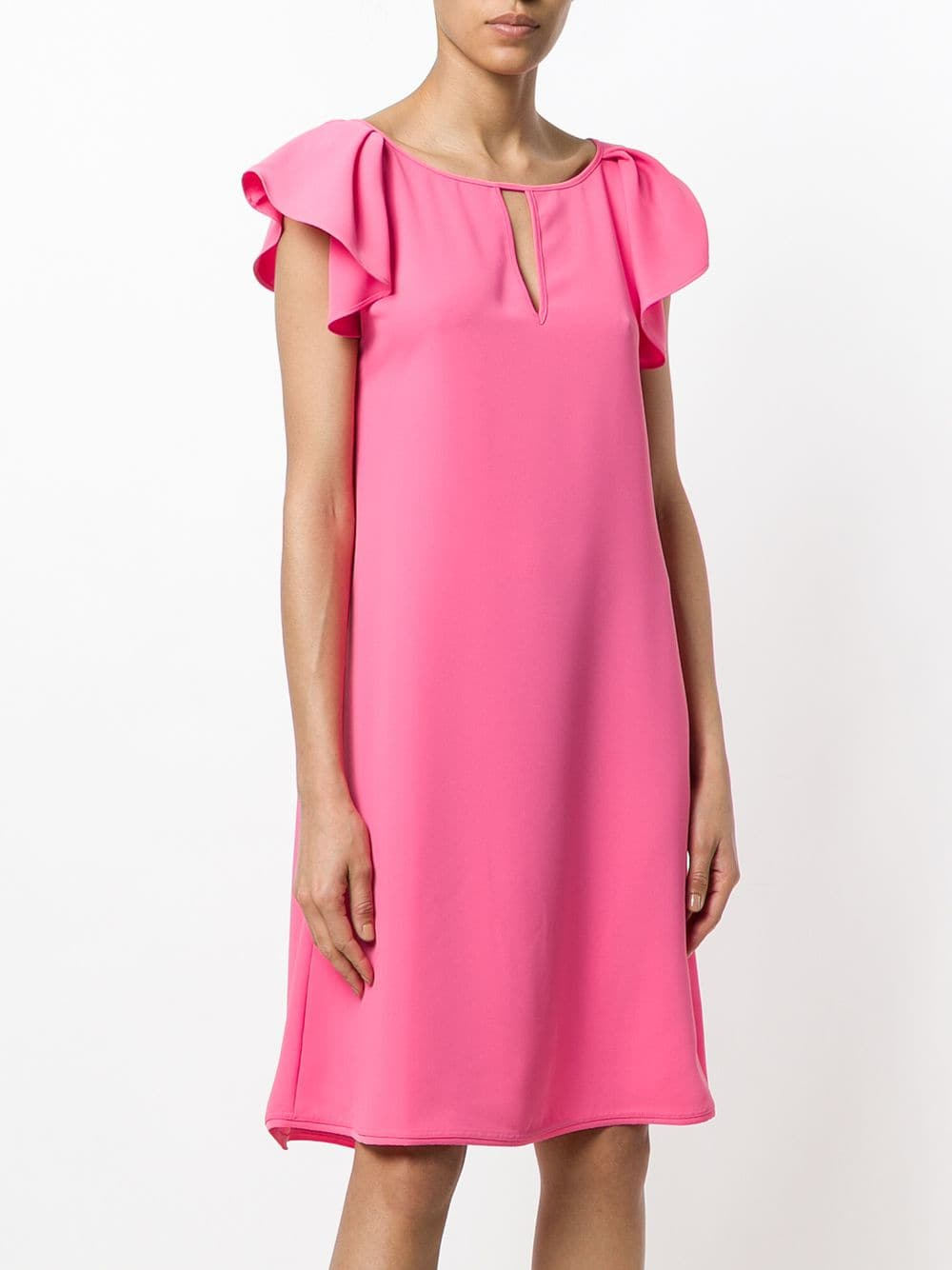 Pink dress with gathered sleeves P.A.R.O.S.H. |  | D722061-PANTERY025