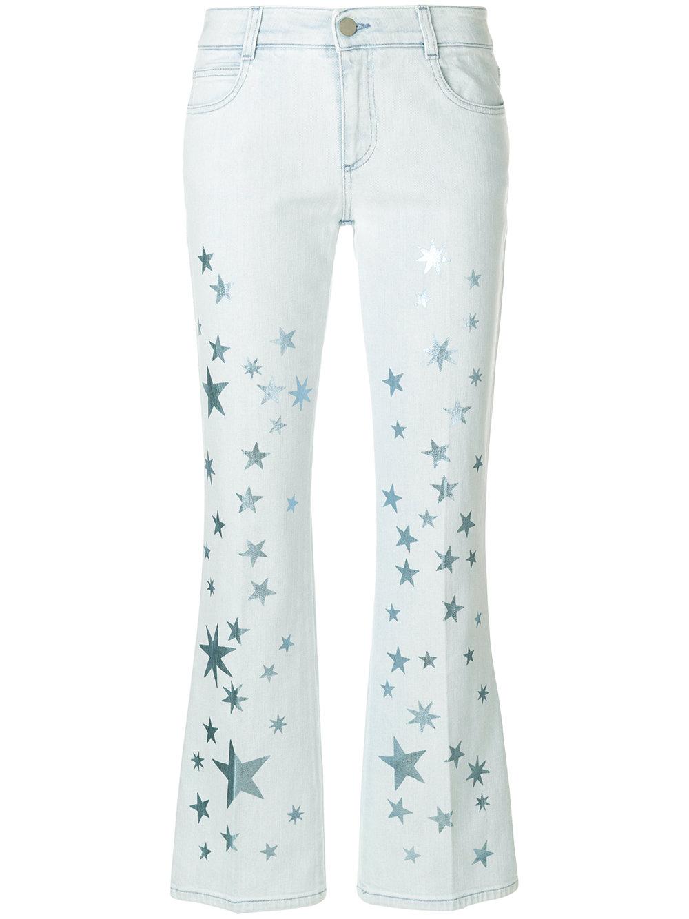 light blue classic five pocket skinny jeans with glittering stars all over  STELLA MC CARTNEY |  | 475508-SKH054300