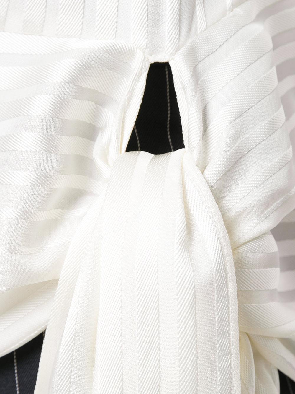 blusa a maniche lunghe in seta jacquard con drappeggio laterale STELLA MC CARTNEY | Camicie | 496038-SKA119501