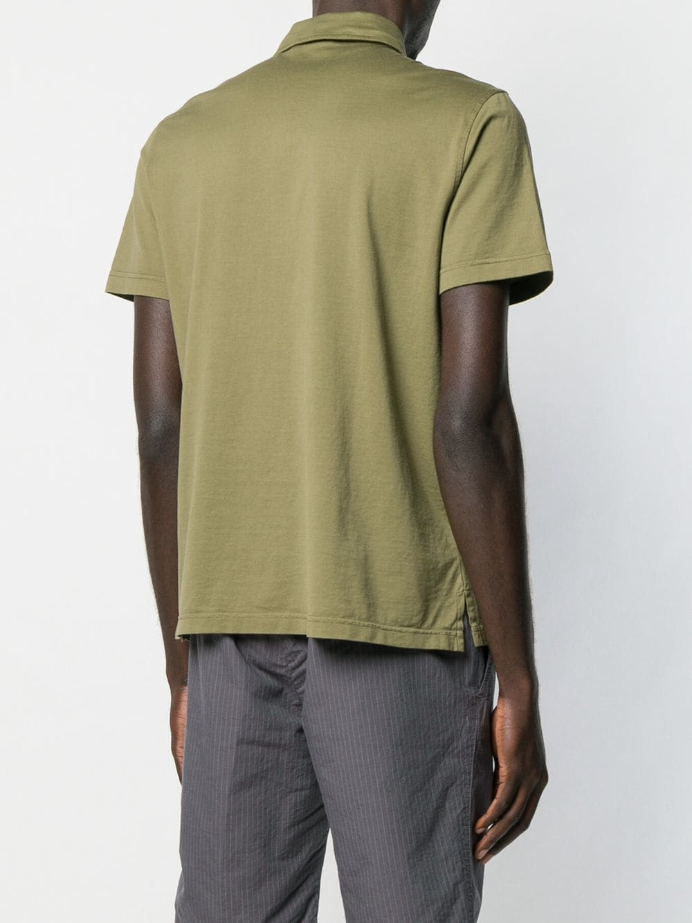 Green cotton polo featuring a classic collar ALBERTO ASPESI      AY15-243885395