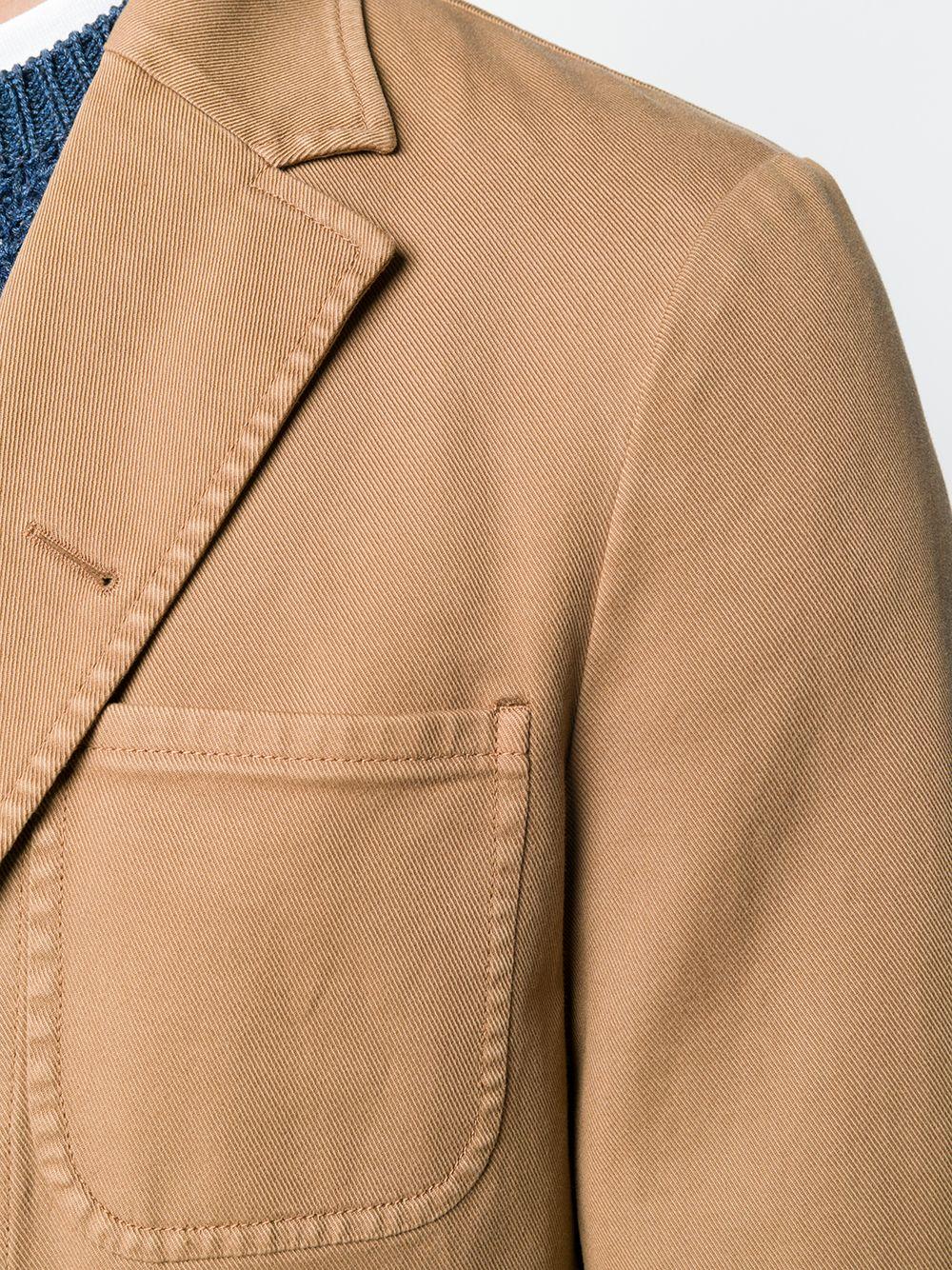 Brown cotton stretch classic fitted blazer BOGLIOLI |  | 0G050Q-BNC405312