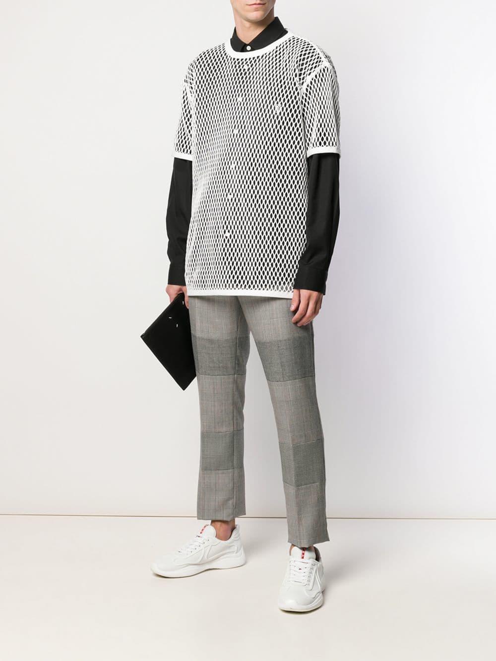 t-shirt oversize girocollo in maglia di cotone bianco ottico BURBERRY | Maglieria Moda | 4549460-M84C810700