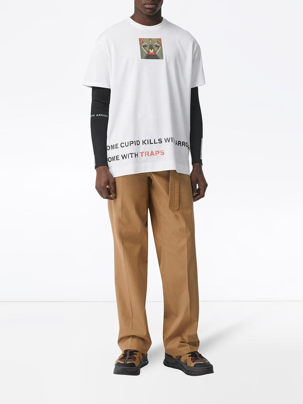 white 100% cotton crewneck and short sleeves T-shirt  BURBERRY |  | 4558758-M84C810700