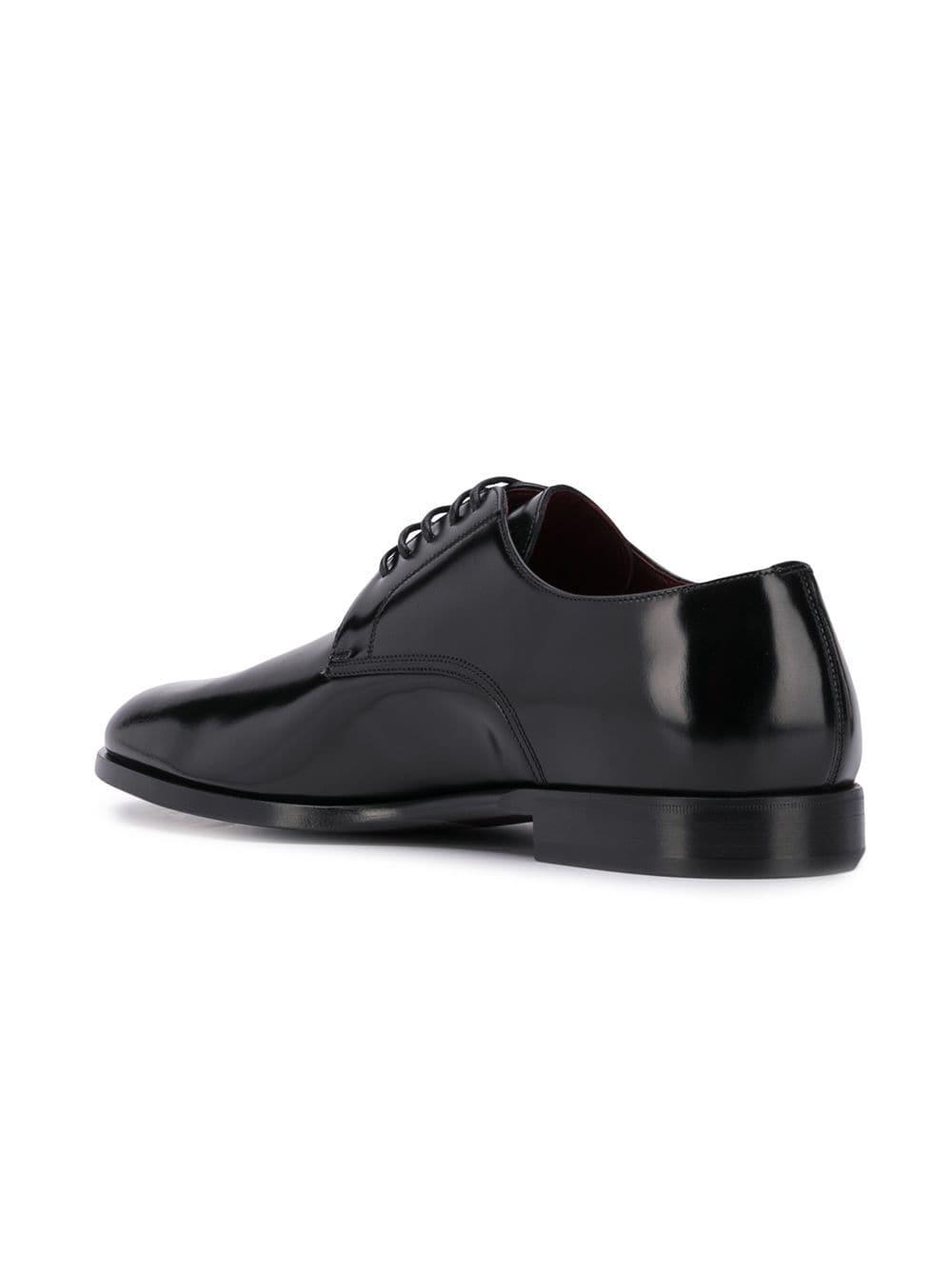 scarpe derby in pelle nera con punta a mandorla DOLCE & GABBANA | Scarpa | A10432-A120380999