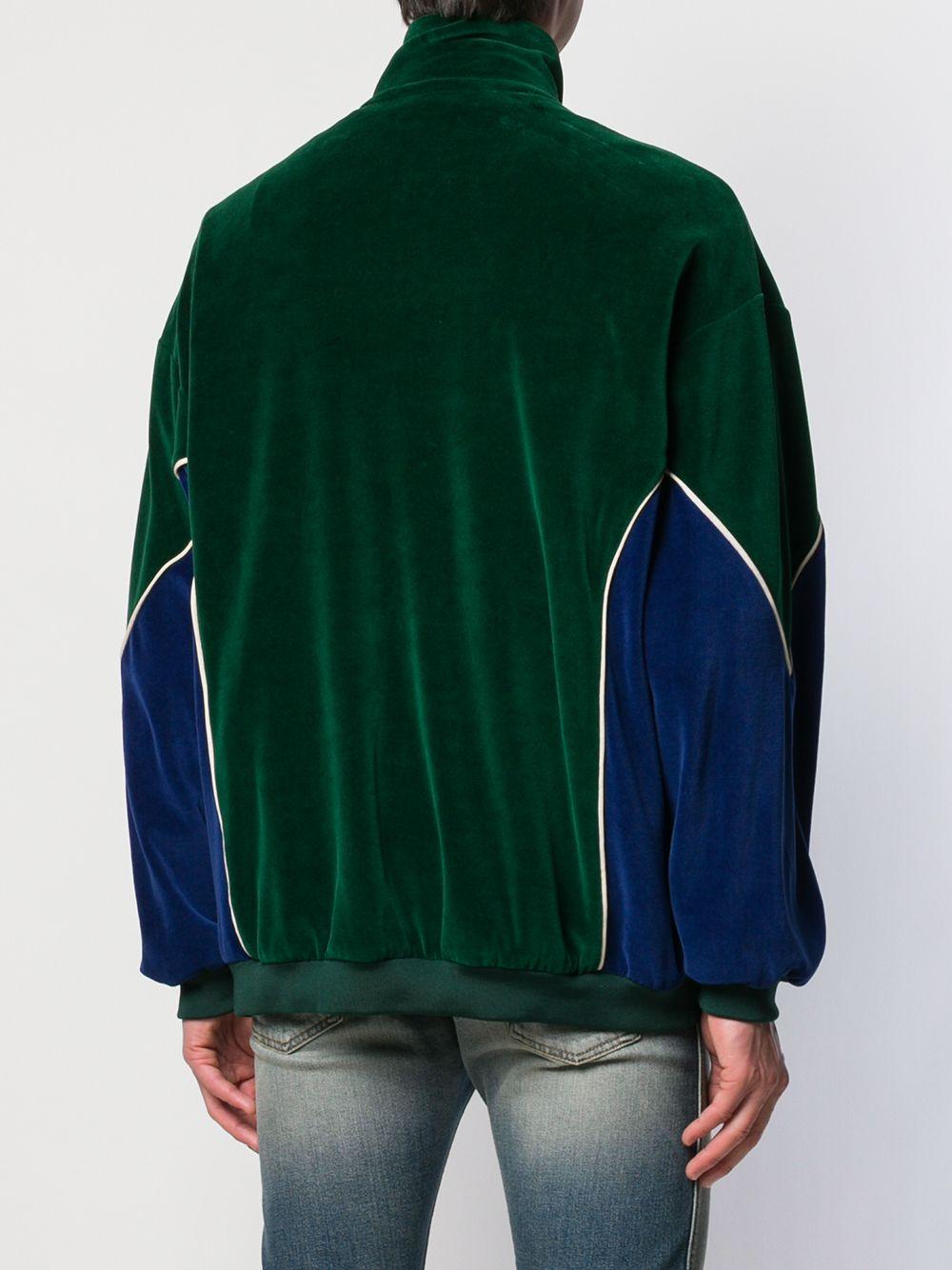 Giacca oversize in velluto a pannelli verde e blu GUCCI | Maglieria Moda | 560253-XJA3J3055