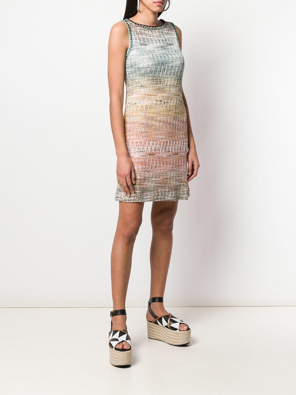 Multicoloured gradient effect zig zag dress  MISSONI      MDG00235-BR0044SM688