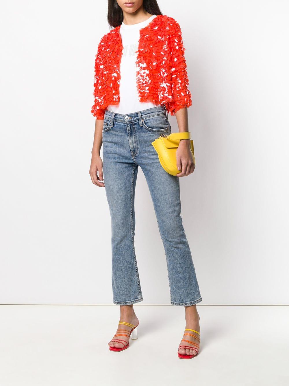 Giacca corta decorata con perline arancioni P.A.R.O.S.H. | Giacche | D430733-GLEN019