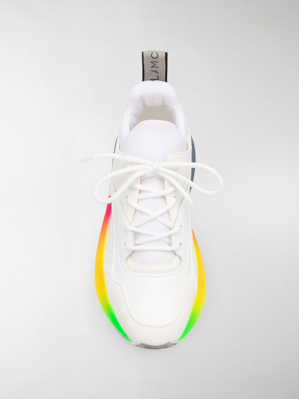 white eco-leather sneakers with rainbow colored rubber sole STELLA MC CARTNEY |  | 501777-W1FA49041
