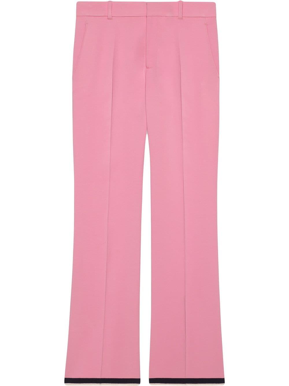 Pantaloni bootcut rosa in viscosa stretch aderenti alla gamba GUCCI | Pantaloni | 558057-ZKR015183