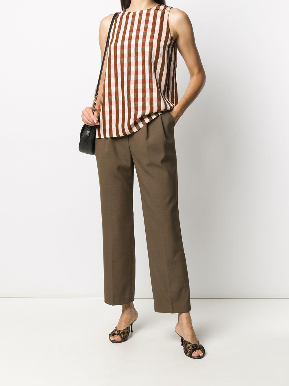 Blusa senza maniche a righe marrone, rosa e beige ALBERTO BIANI | Camicie | MM826-VI201861