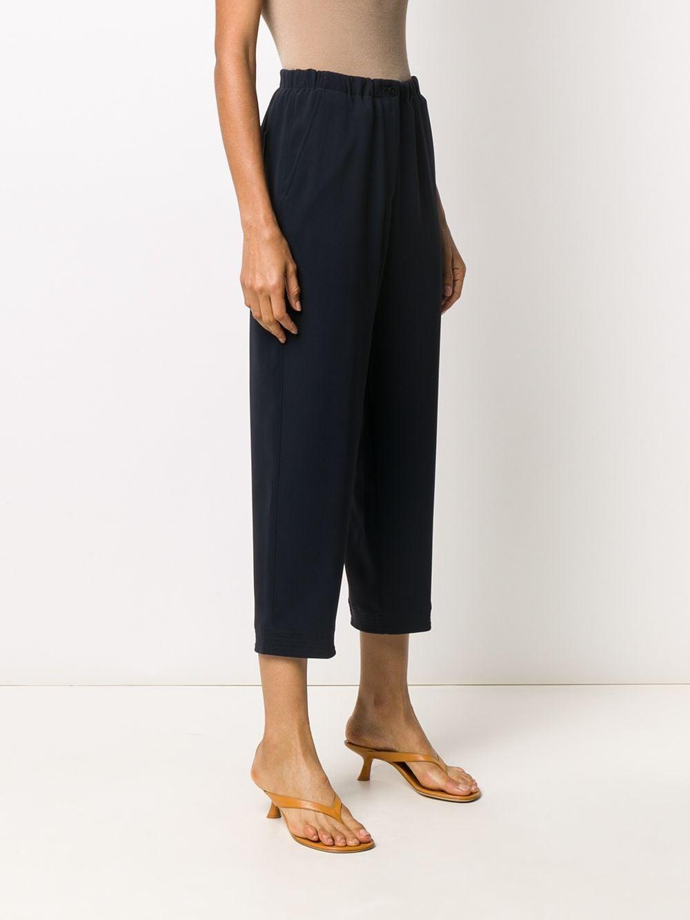 Navy elasticated cropped trousers   ALBERTO BIANI |  | CC864-AC002880