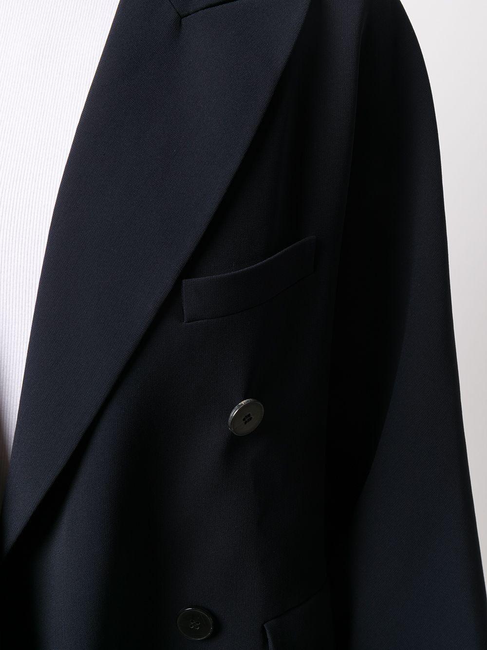 Cappotto aderente blu scuro con chiusura a doppio petto ALBERTO BIANI | Giacche | II862-AC002880
