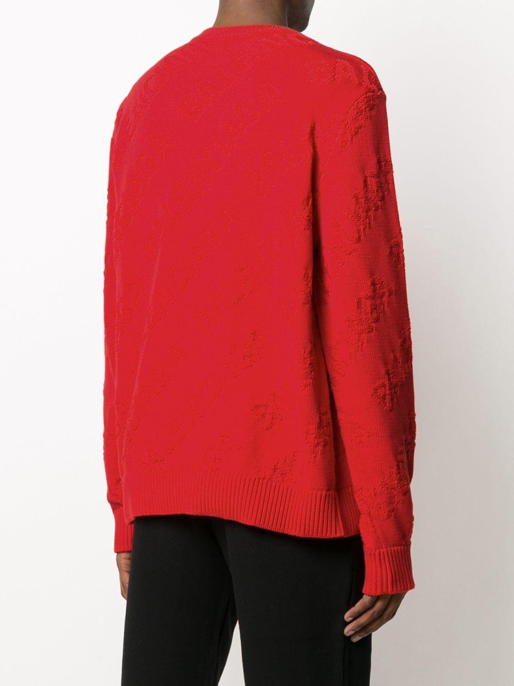 red Balenciaga logo embroidered jumper BALENCIAGA |  | 599870-T31666400