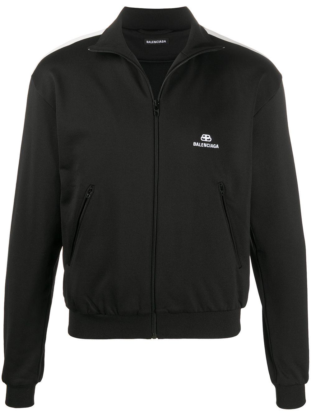 black zipped sweatshirt with size white bands BALENCIAGA |  | 601727-TGV041070