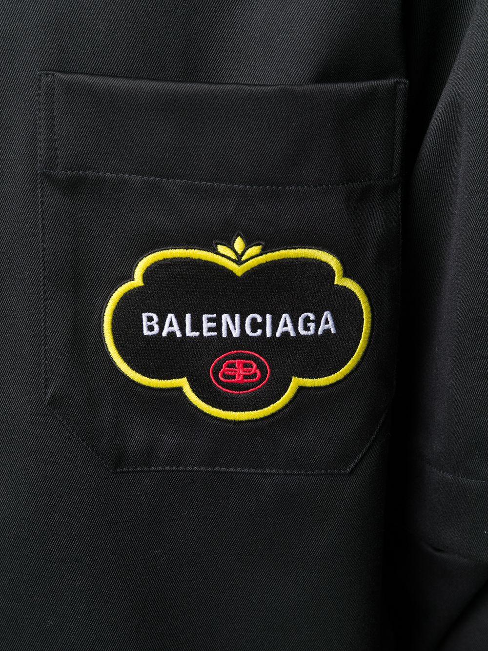 oversize black double sleeve shirt  BALENCIAGA |  | 603106-TGQ071000