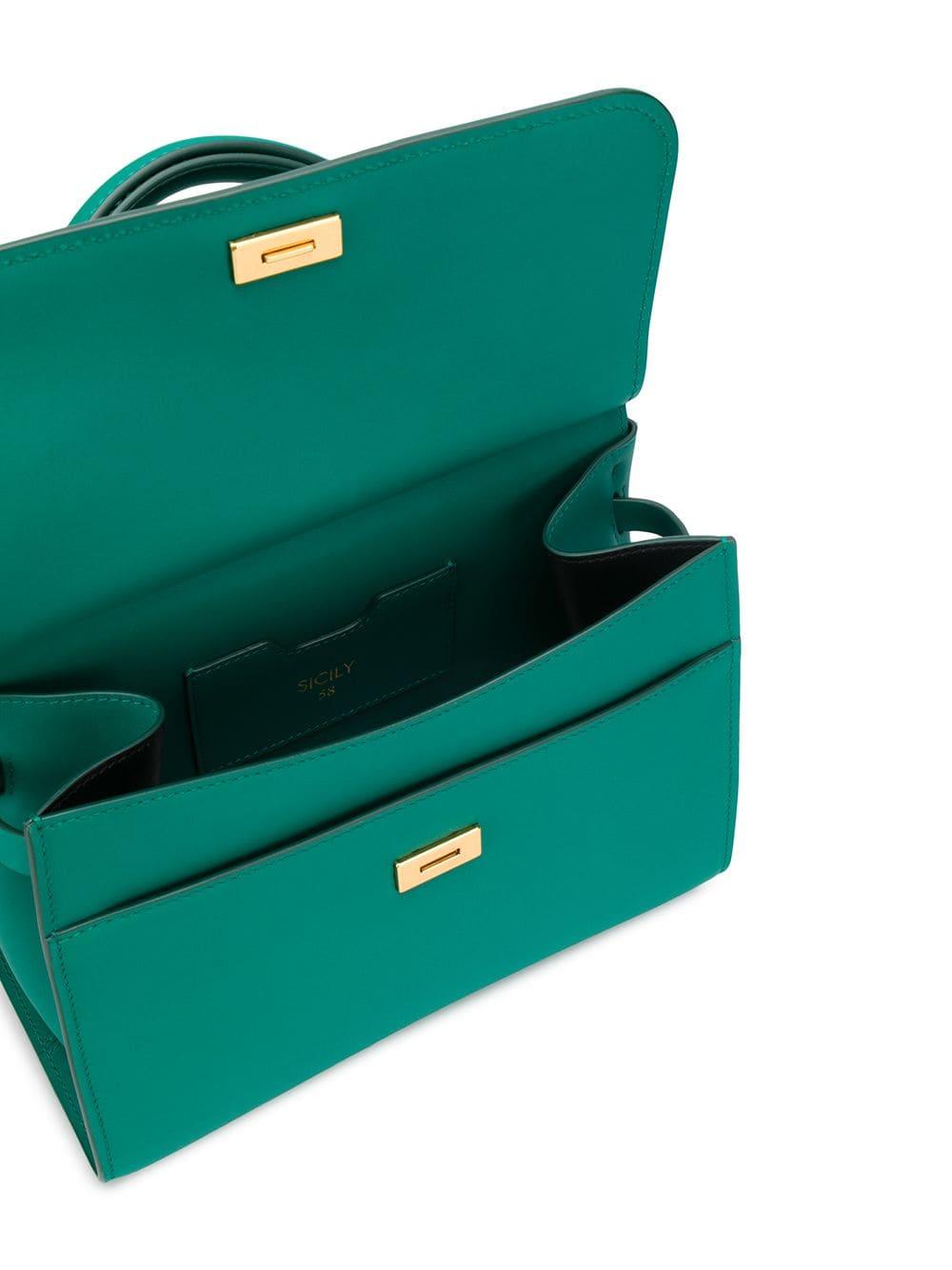 Sicily 58 calf leather emerald green tote bag DOLCE & GABBANA |  | BB6622-AV3858H544