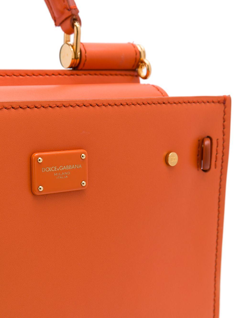Sicily 62 orange calf-leather tote bag  DOLCE & GABBANA      BB6836-AV38580244