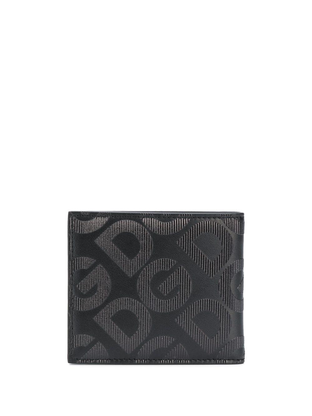 black calf leather bi-fold wallet with grey DG Mania print DOLCE & GABBANA |  | BP1321-AJ690HNNDN