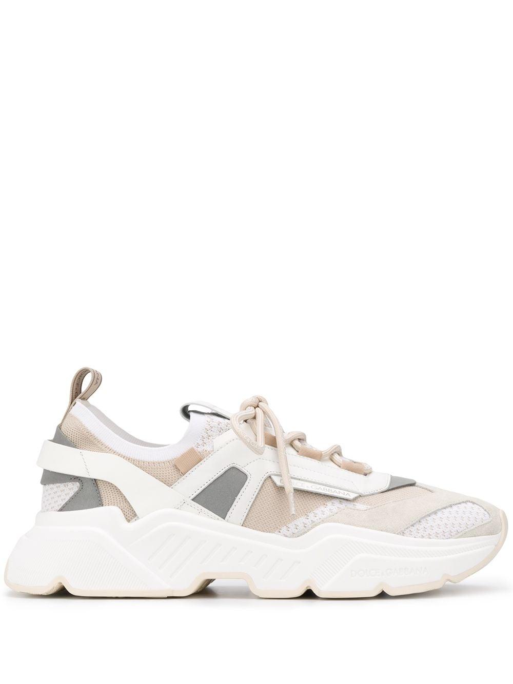 sneakers Daymaster bianco / beige in rete, pelle e gomma DOLCE & GABBANA | Scarpa | CS1766-AX03487769