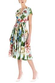 pleated A-line dress with floral print all over DOLCE & GABBANA |  | F6H3WT-HS5GBHC1AM