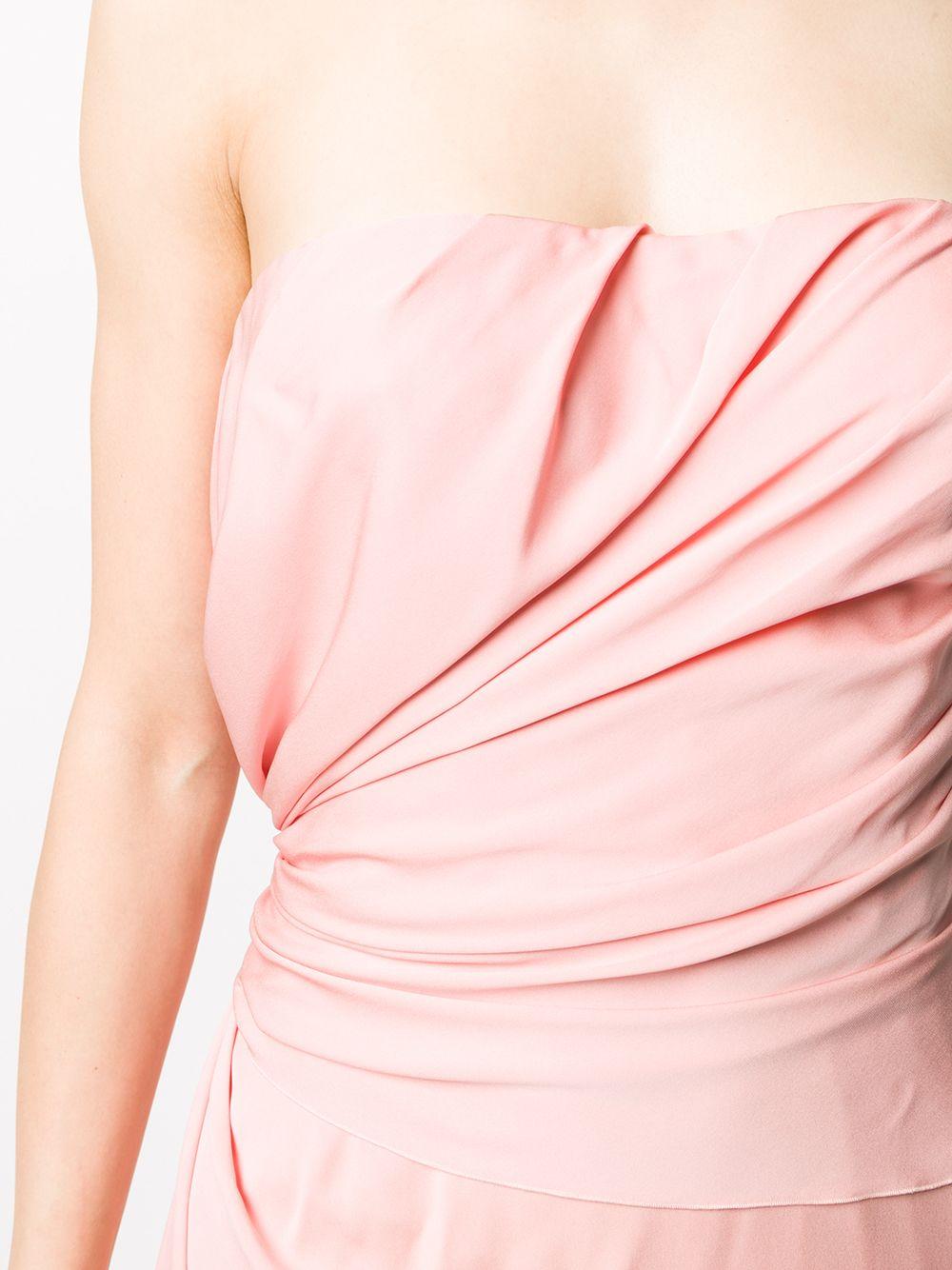 abito rosa in seta elasticizzata con forma asimmetrica DOLCE & GABBANA | Abiti | F6H8LT-FUABFF2528
