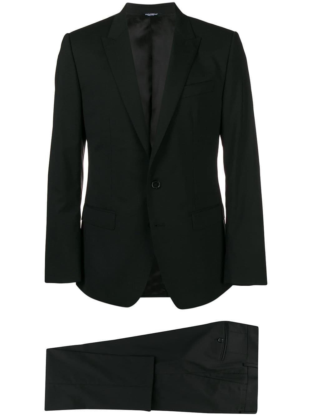 black virgin wool classic smoking suit DOLCE & GABBANA      GK0RMT-FUBECN0000