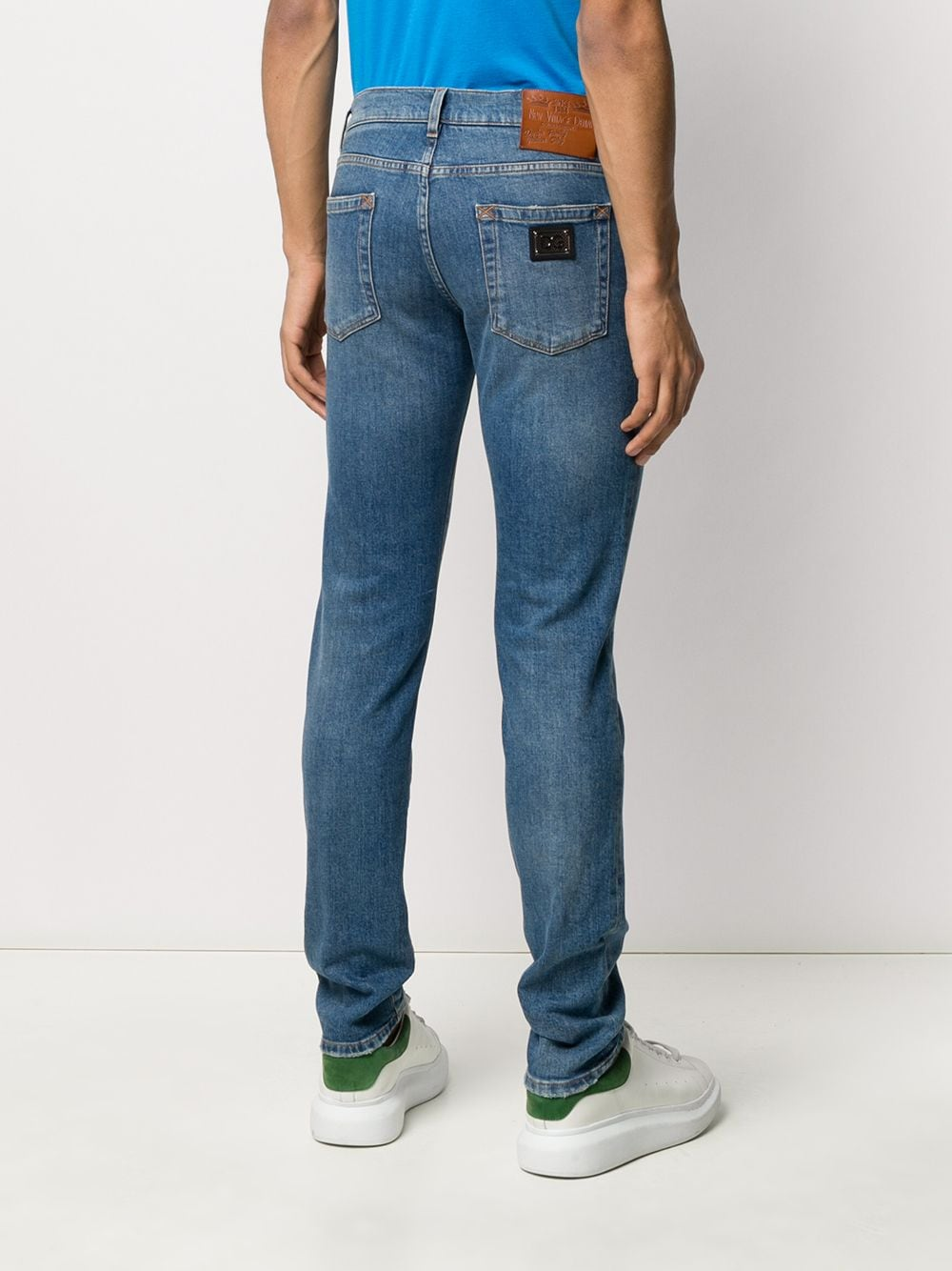 stonewashed cotton blue jeans with back DG logo plaque DOLCE & GABBANA |  | GY07LD-G8BY8S9001
