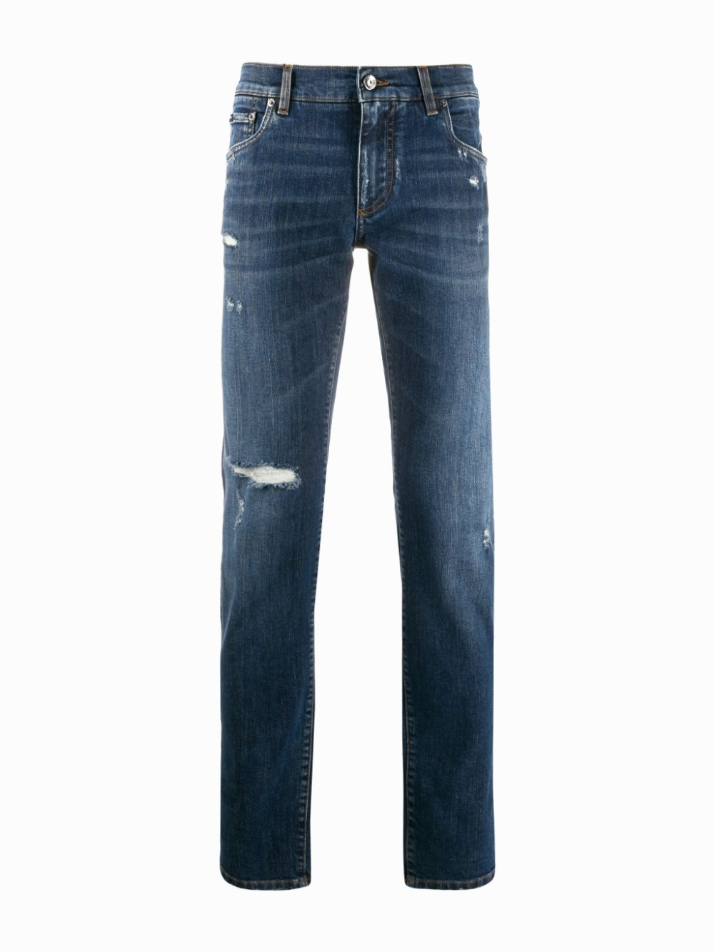 blue stretch cotton distressed slim fit jeans DOLCE & GABBANA |  | GY07LD-G8CA2S9001