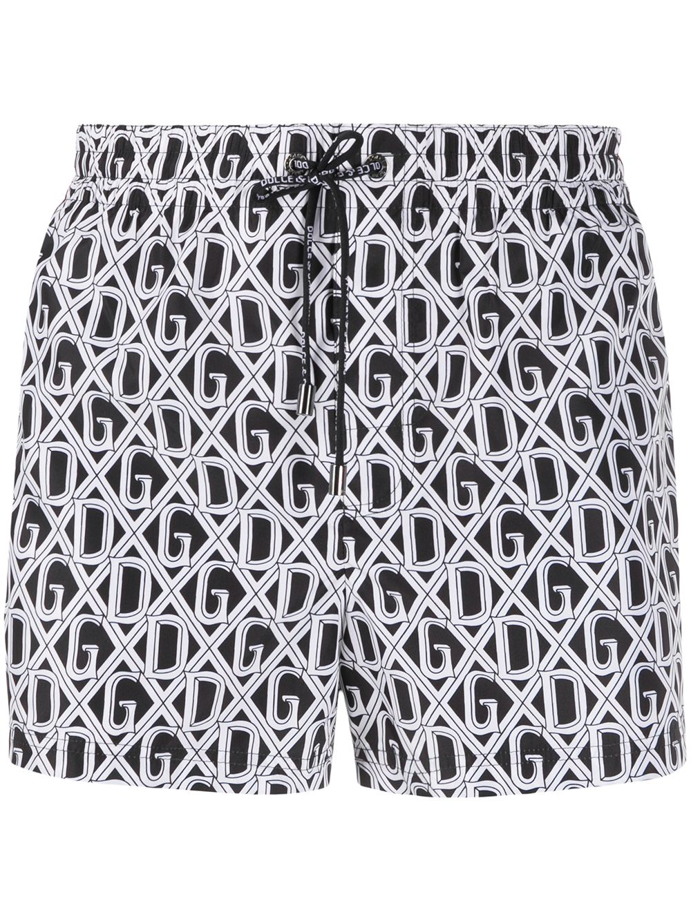 polyester black and white swimshorts with D&G monogram print DOLCE & GABBANA |  | M4A06T-HSMH6HN67C