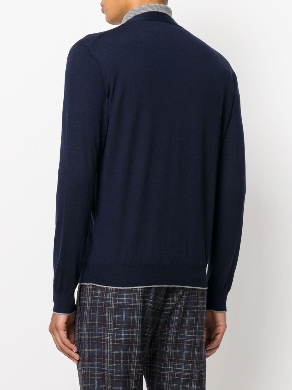 blue merino wool and silk V neck cardigan ELEVENTY |  | 979MA0195-MAG2400311