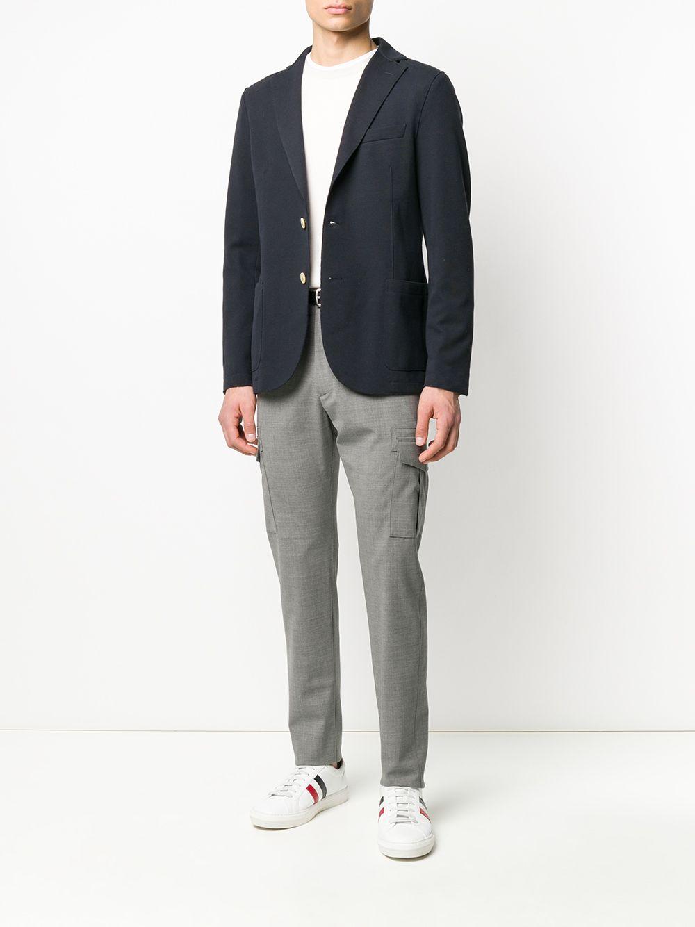 giacca monopetto in cotone blu scuro ELEVENTY   Giacche   A70GIAA01-JAC2500111S