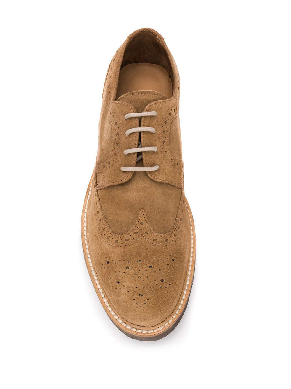 soft camel suede Oxford brogue shoes ELEVENTY |  | A72SCAA06-SCA0A02903