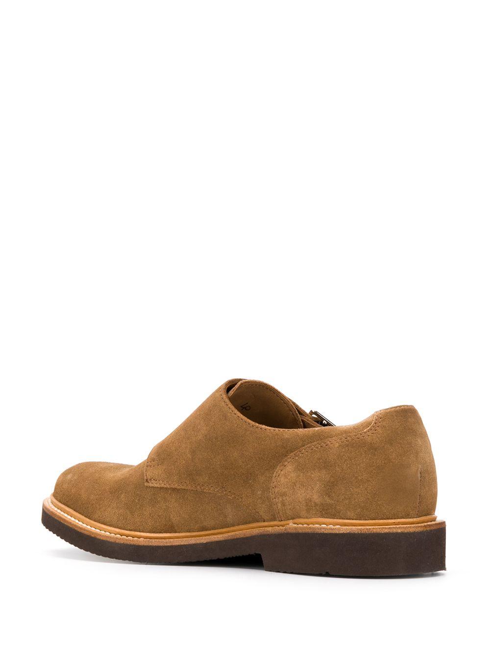 scarpe modello Monk in pelle scamosciata color cammello ELEVENTY   Scarpa   A72SCAA08-SCA0A02903