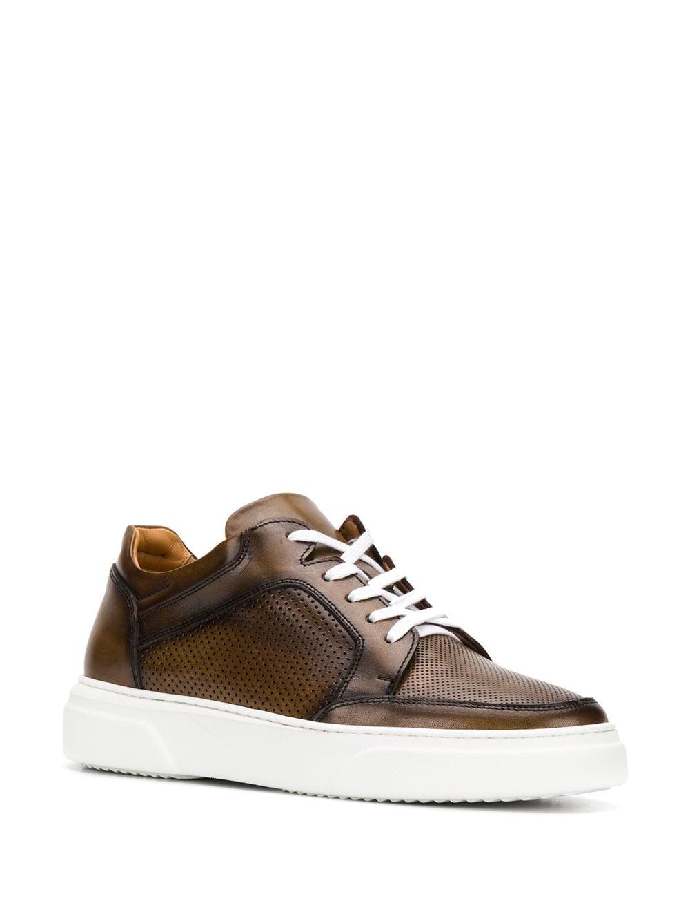 sneakers in pelle marrone e gomma bianca ELEVENTY | Scarpa | A72SCAA11-SCA0A03205