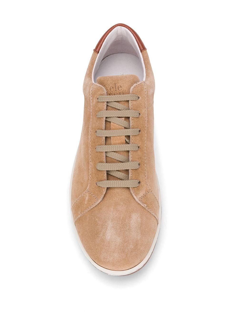 sneakers basse in pelle marrone effetto scamosciato ELEVENTY | Scarpa | A72SCNA01-SCA0A00702