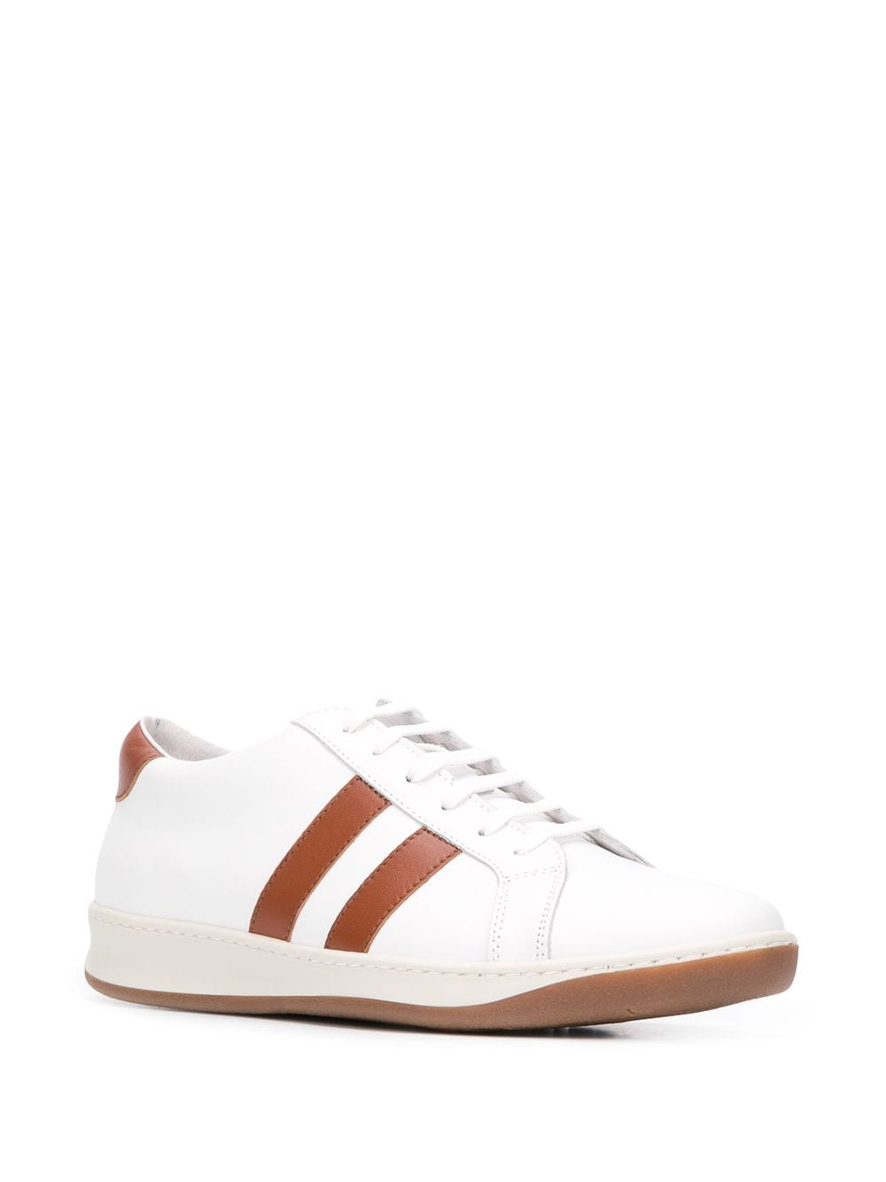 white calf-leather sneakers with side brown detail ELEVENTY |  | A72SCNA04-SCA0A00901