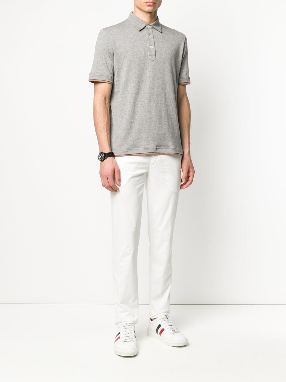 White cotton blend straight-leg low-rise jeans   ELEVENTY |  | A75PANA02-TET0A00301