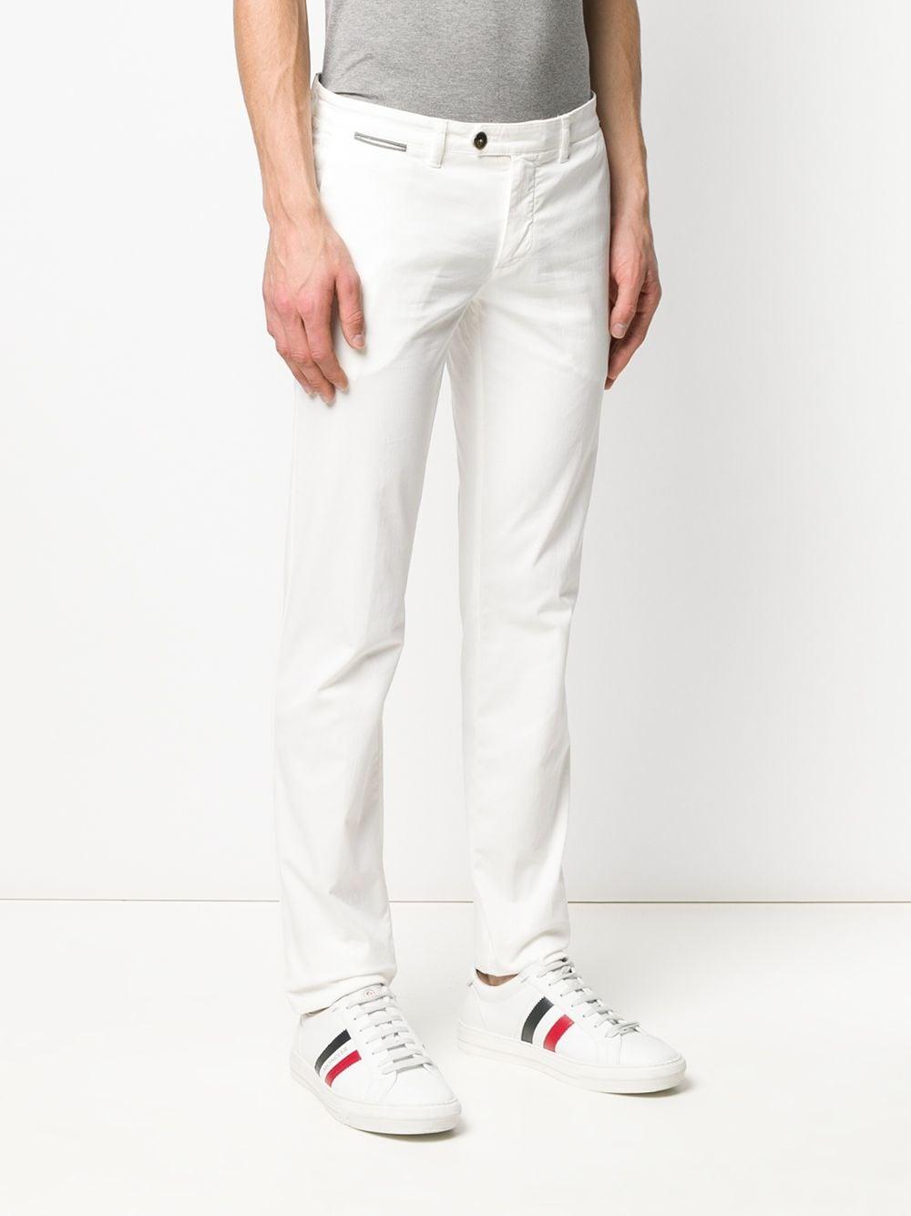 Jeans a vita bassa bianchi in misto cotone a gamba dritta ELEVENTY | Pantaloni | A75PANA02-TET0A00301