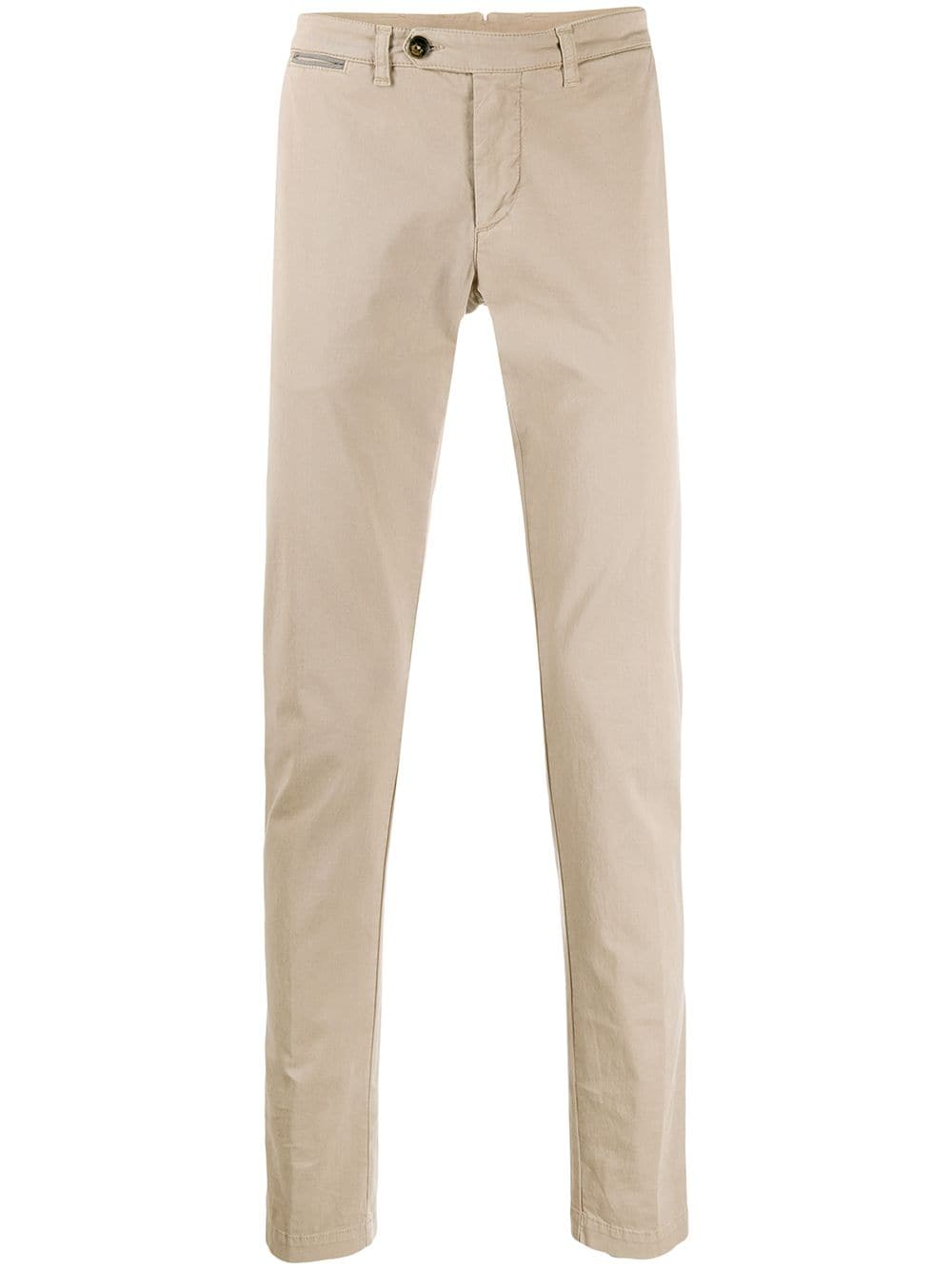 Pantaloni chino a vita bassa in misto cotone beige sabbia ELEVENTY | Pantaloni | A75PANA02-TET0A00303