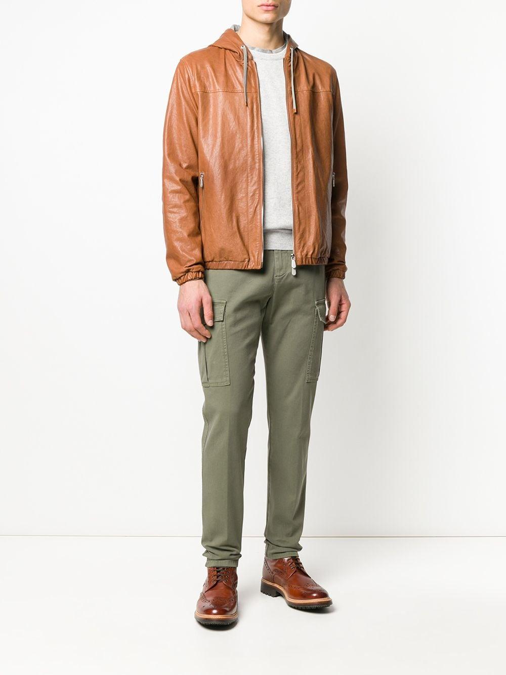 Pantaloni cargo a gamba affusolata con bordi in misto cotone verde salvia ELEVENTY   Pantaloni   A75PANA03-TET0A00107