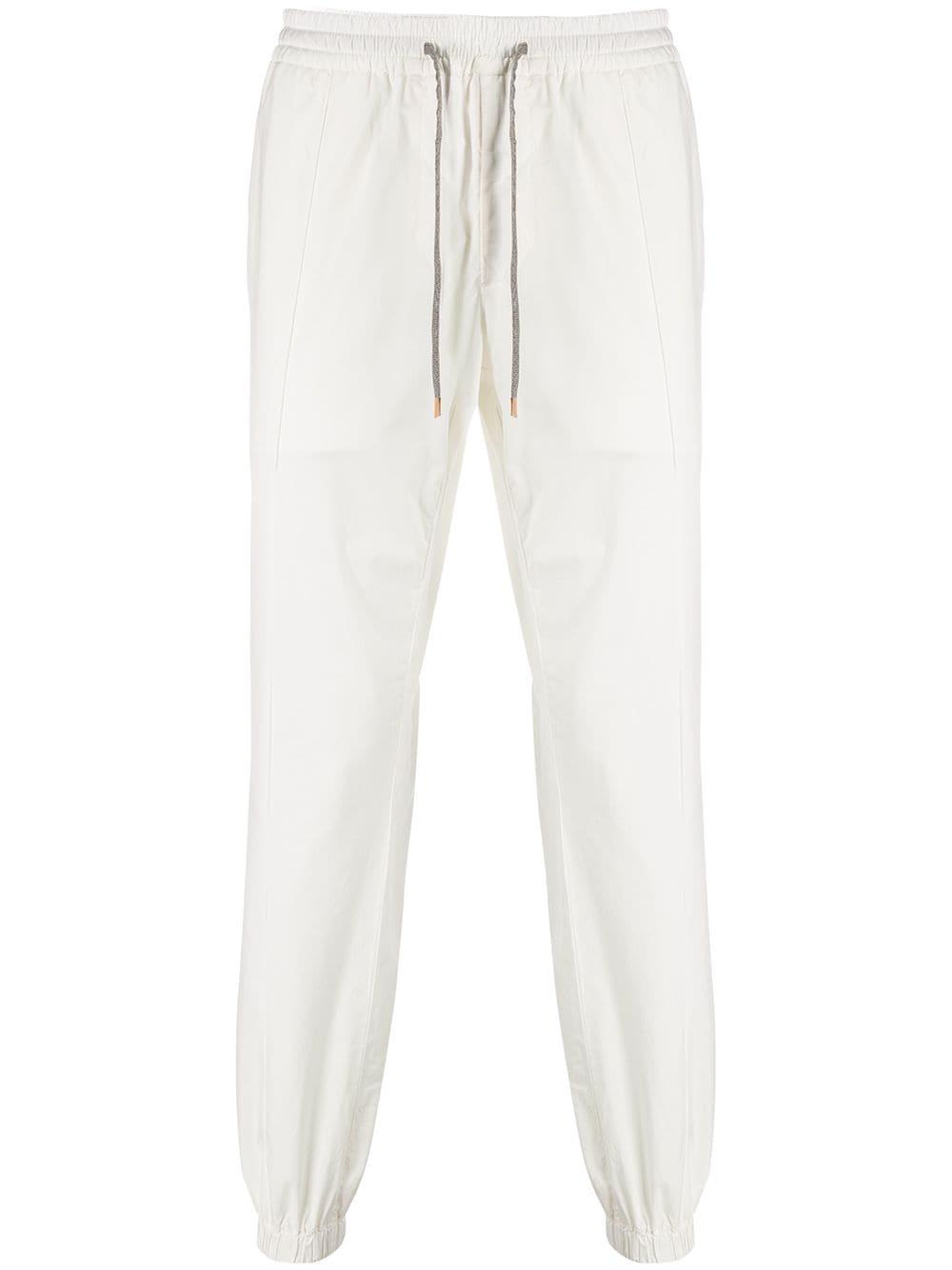 Pantaloni sportivi in misto cotone bianco con coulisse in vita ELEVENTY | Pantaloni | A75PANA12-TET0A01201