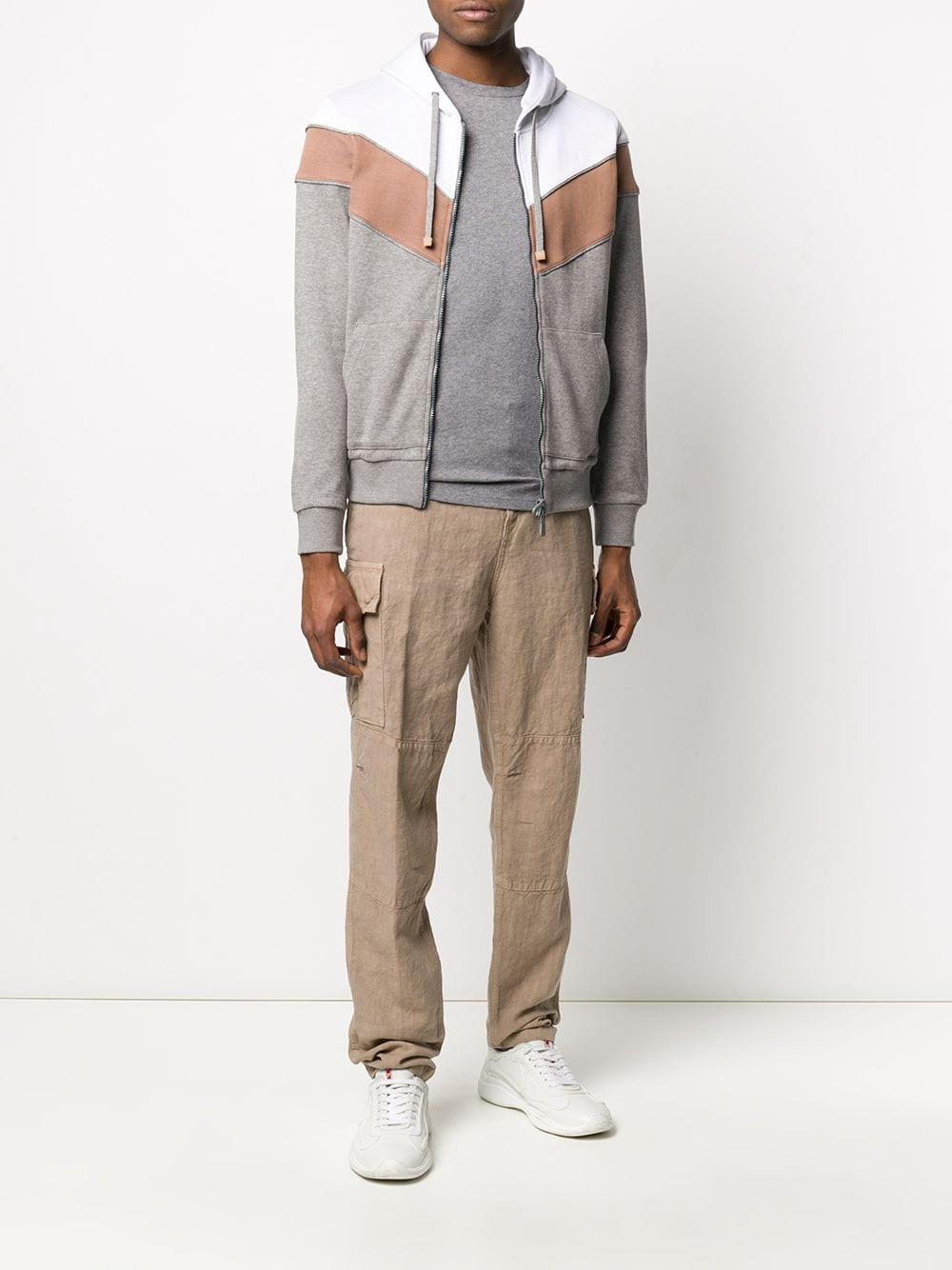 Pantaloni a gamba dritta in lino beige con tasche laterali ELEVENTY   Pantaloni   A75PANA15-TET0A01003