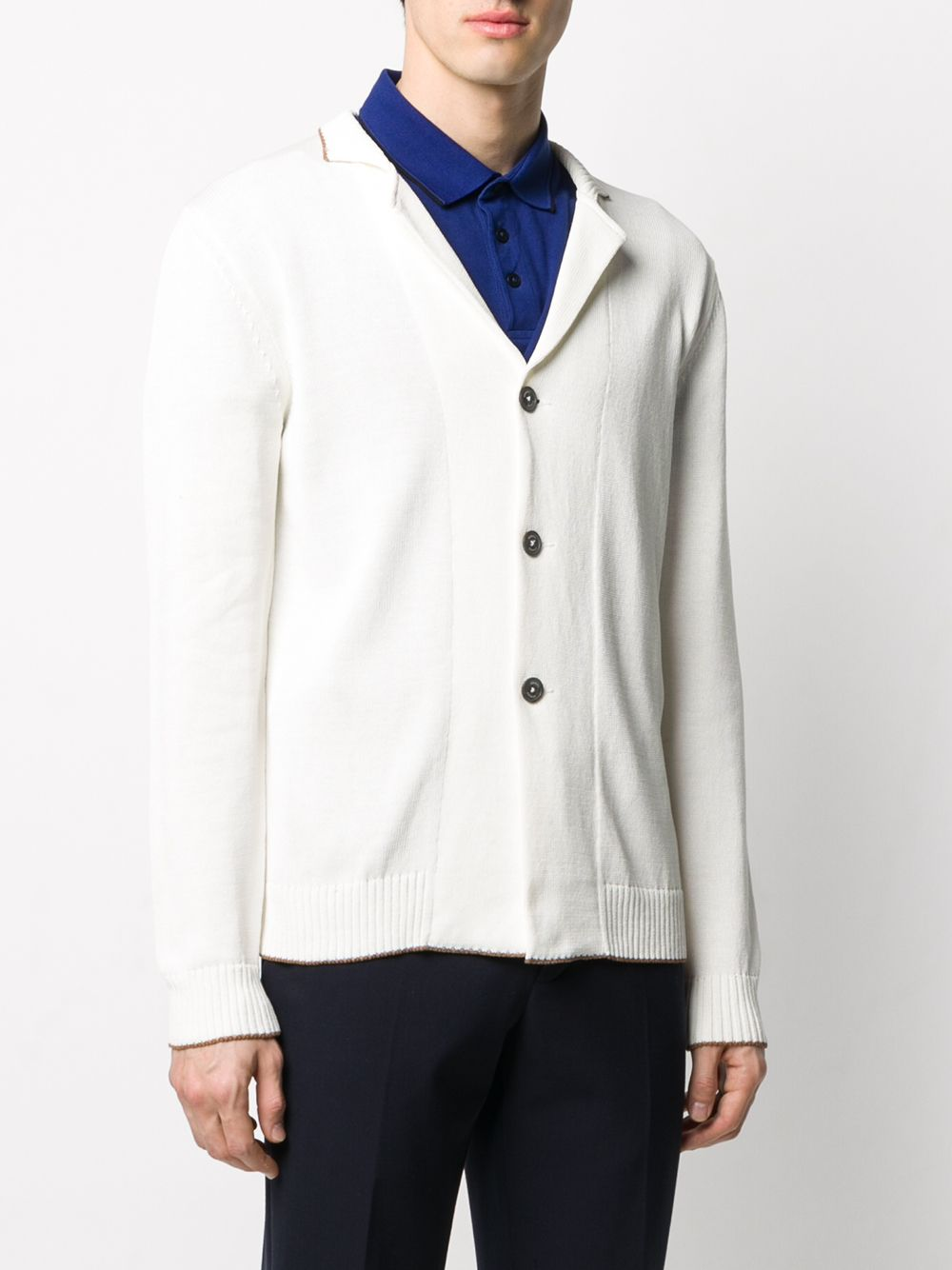 Bright white cotton front buttoned cardigan ELEVENTY |  | A76GIAA04-MAG0A03601