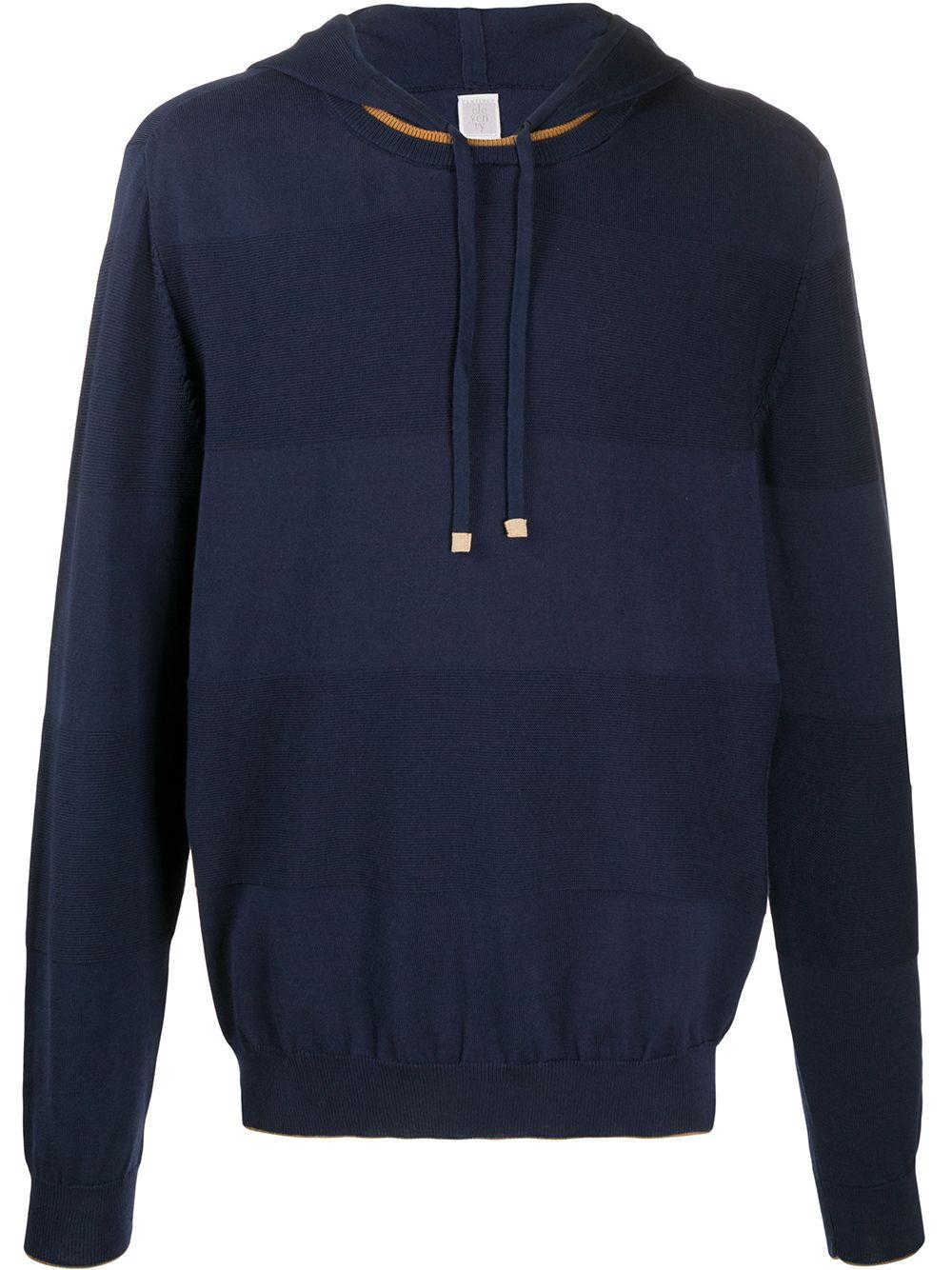 blue cotton striped knit hoodie ELEVENTY |  | A76MAGA63-MAG0A06111-04