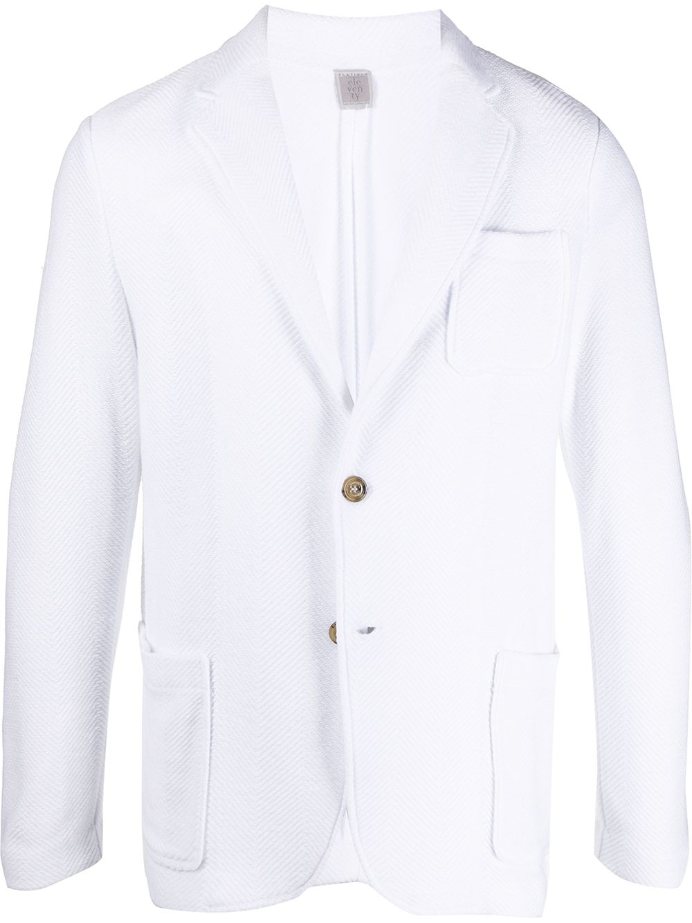 giacca classsica in cotone bianco ELEVENTY | Giacche | A76MAGA68-MAG0A06501