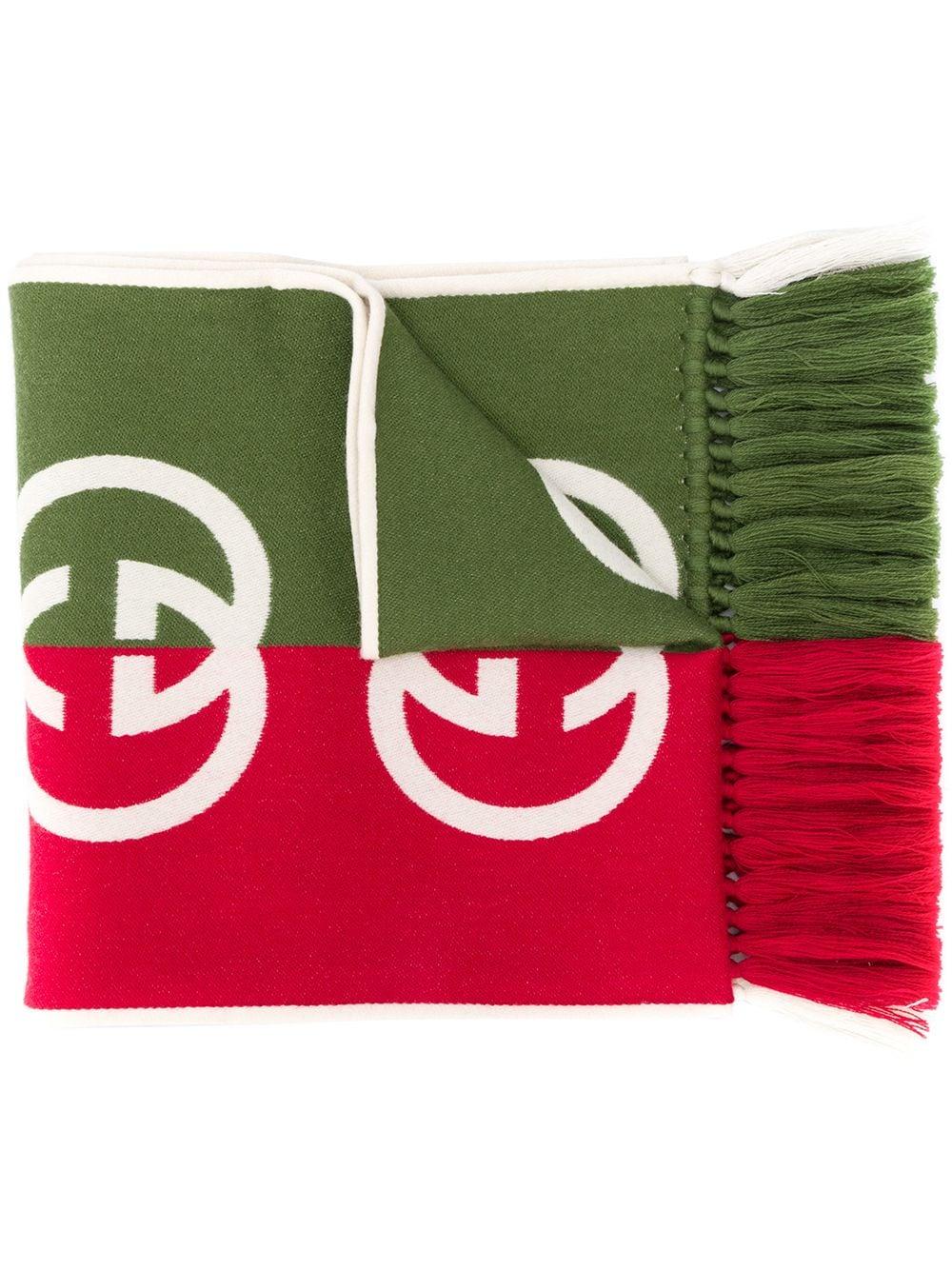 bicolor wool GG logo scarf GUCCI      575606-4G1843174