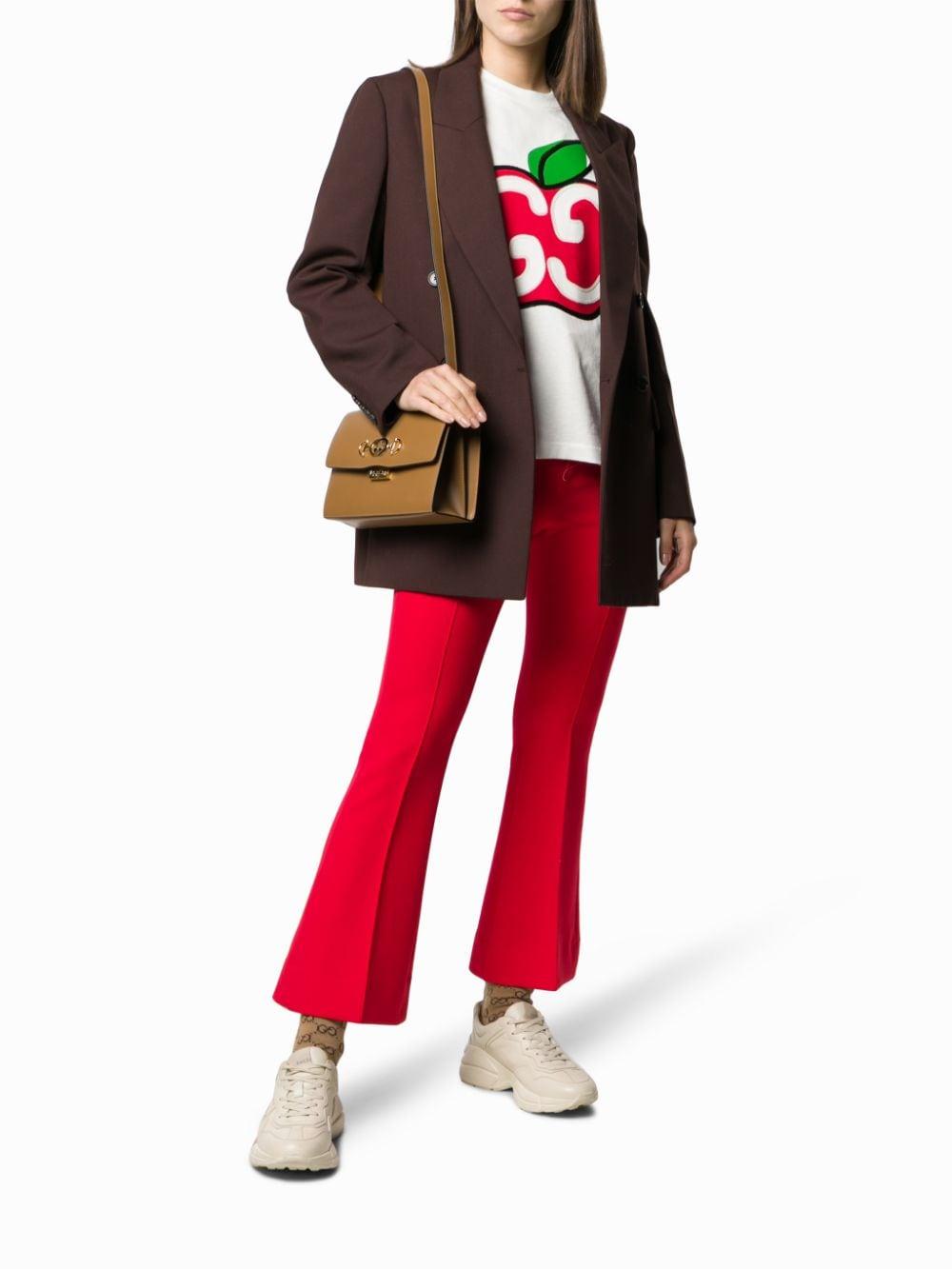 t.shirt in cotone bianco con logo Gucci Mela GUCCI | Maglieria Moda | 580762-XJB7U9381