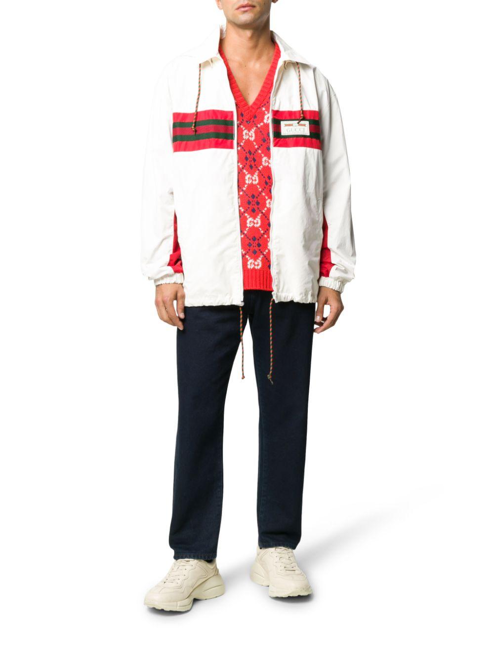 white and Gucci Web details windbraker jacket GUCCI |  | 599935-XDA0X9061